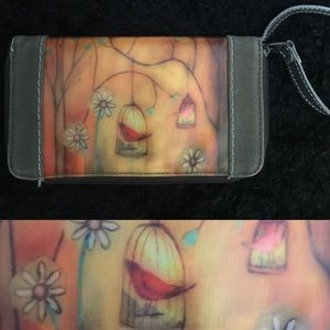 Sherpani Bird in a cage Wristlet! Fits big phones!